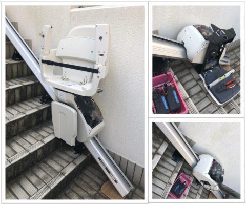 階段昇降機の機械設置