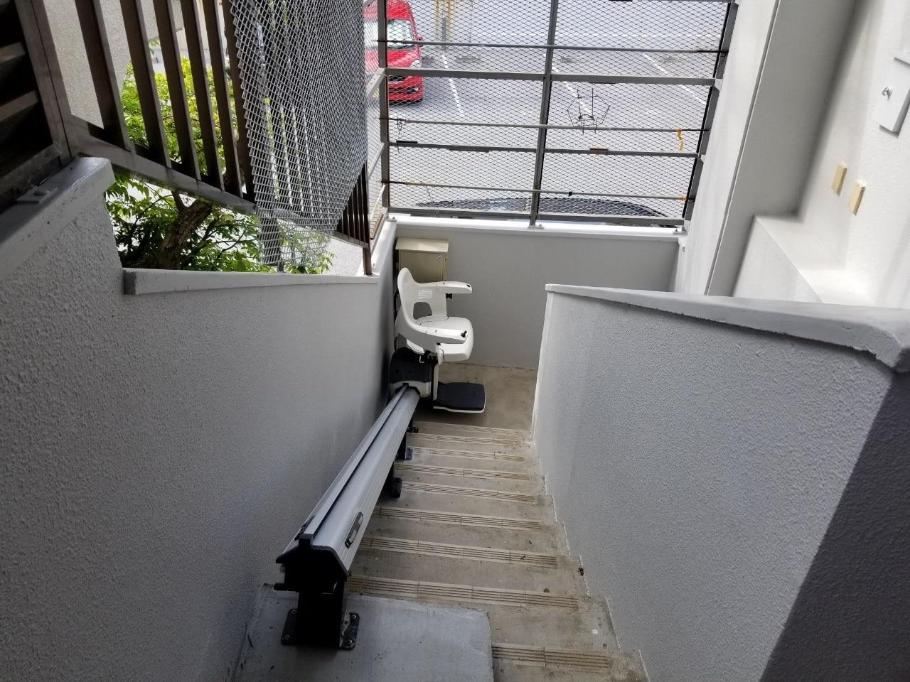 階段昇降機設置後上