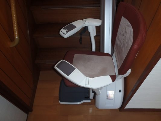 階段昇降機(設置後)