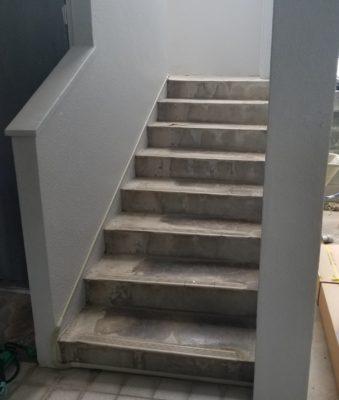 階段昇降機設置前