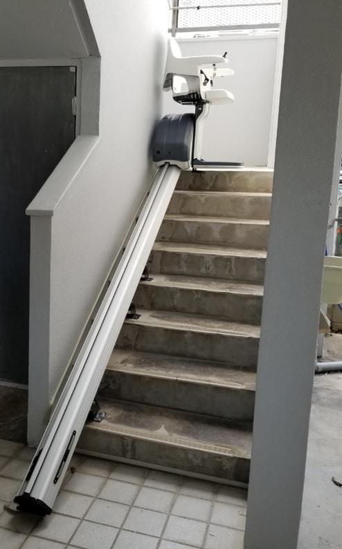 階段昇降機設置後