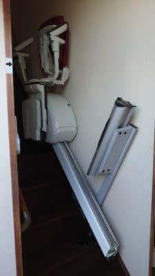 階段昇降機(レール折畳)